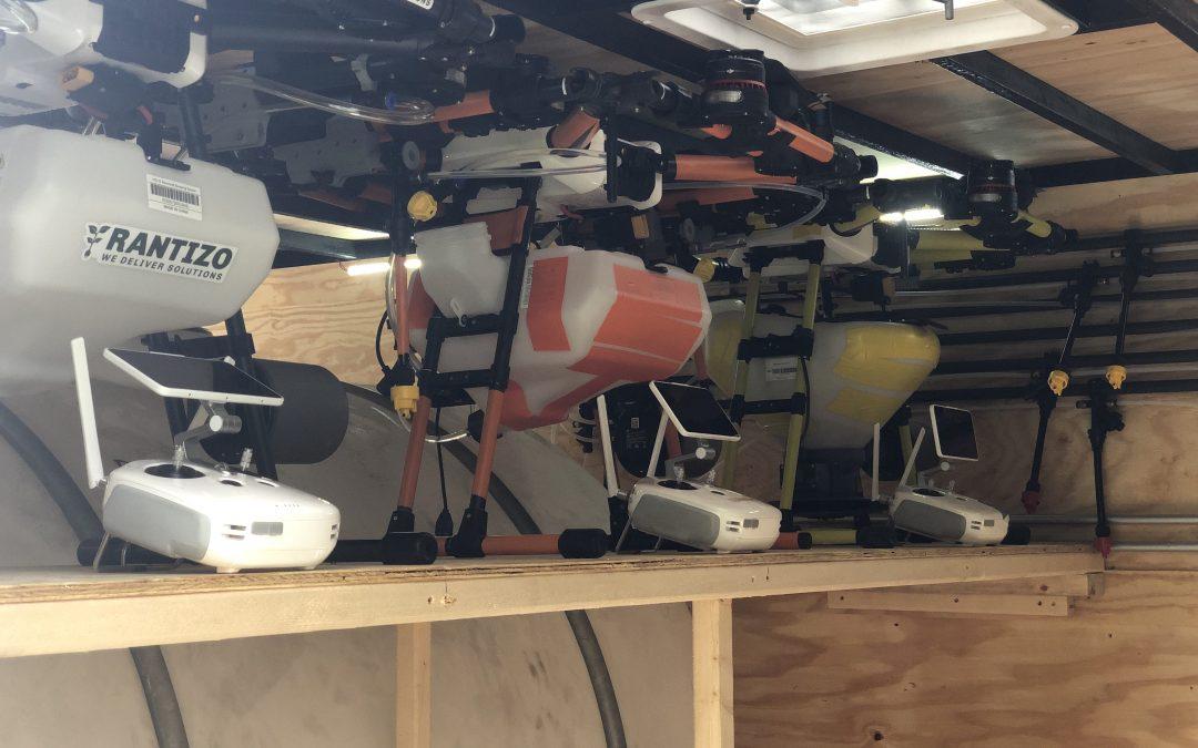 Rantizo drone sprayers stored for winter